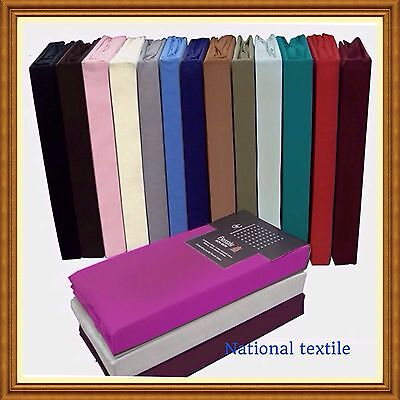 Percale Quality Fitted,Flat,Fitted Valance Sheets  All Sizes ,Pillow Cases optn