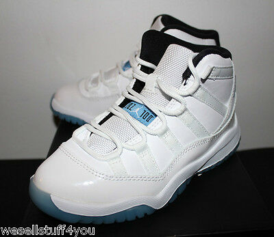 Air Jordan Retro 11 XI Legend Blue White Sneakers Boys PS Size 12C 13C 1 1.5 New
