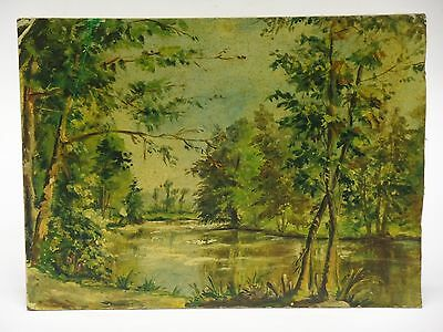 SPELNDID SIGNED 1951 NORMANDY FRANCE LANDSCAPE PAINTING by A. TURIN