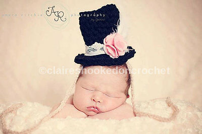 Alice in wonderland inspired baby hat boutique style top hat, one size fits all.