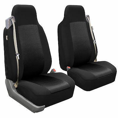 PREMIUM FRONT SEAT Covers for Car Truck SUV with integrated built-in