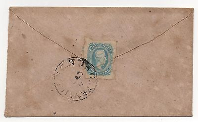 CSA Cover Scott #11 Milky Blue Stamp on Reverse Greenville SC CDS Cancel