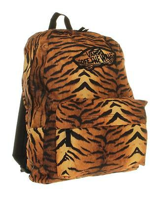Vans Off The Wall Realm Backpack Bookbag Womens Gold Black Tiger New NWT