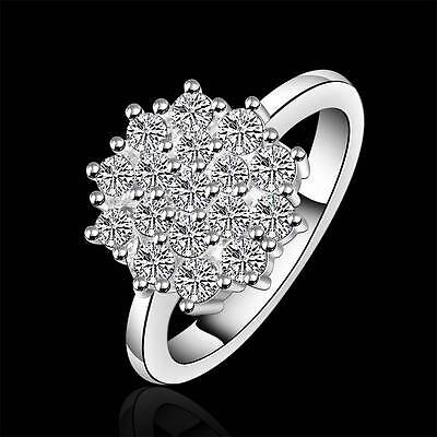 wholesale 925 silver rings fashion Jewelry women's Engagement Crystal Ring