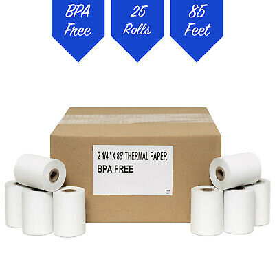 "2 1/4"" x 85' THERMAL RECEIPT PAPER-25 ROLLS **FREE SHIPPING**"