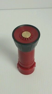 NEW 1 inch Red Plastic Fire Hose Fog Nozzle NST/NH Threads USA SHIPPER