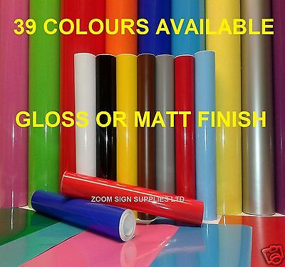 10 mtr x 610mm or A4 Sheet Self Adhesive Sticky Back Plastic Sign Vinyl