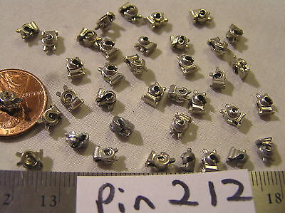 36 Vtg silver Brooch Pin Quality solder closure Mechanism Repair Jewelry Finding