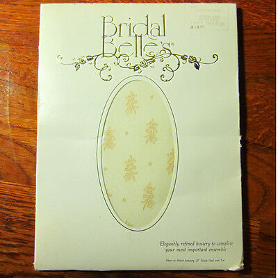 Sheer to Waist  WHITE PANTYHOSE Design /& Back Seam by Bridal Belles  SX