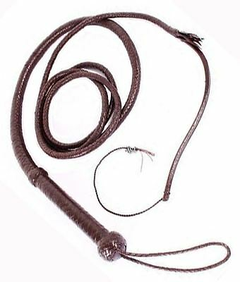 Indiana Jones Bullswhip Hunter Brown Whip Beautiful Genuine 100% Cowhide Leather