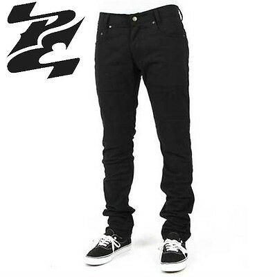 Mens Public Enemy®  Slim Fit Motorcycle Riding Jeans With Protective Lining