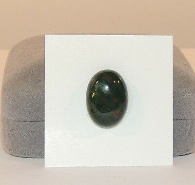 Bloodstone 13x18mm Cabochon with 5.5mm dome from India  (8173)