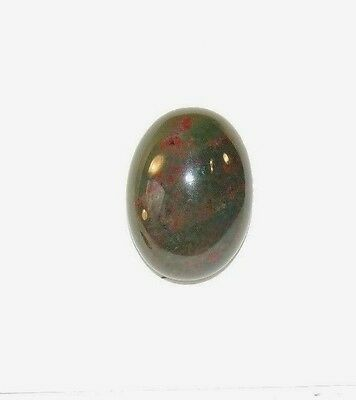 Bloodstone Cabochon 13x18mm with 5.5mm Dome from India  (8170)