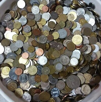 Coins Lot 1 Pound / Libra / 454 Grams Of Mixed World Coins Free Shipping
