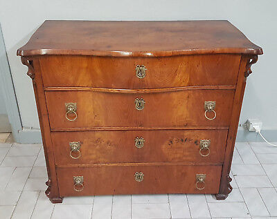 Rare Biedermeier Chest Of Drawers Veneered In Ash Wien 1830 Original Patination
