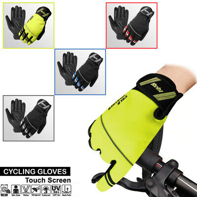 Cycling Winter Cold Weather Gloves Waterproof Windproof Full Finger Touch Screen