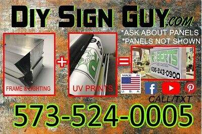 3X4 Outdoor Lighted Sign Box- L.e.d -Diy Kit