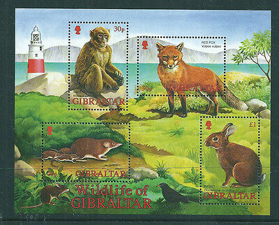 Gibraltar 2002 Wildlife mini sheet unmounted mint