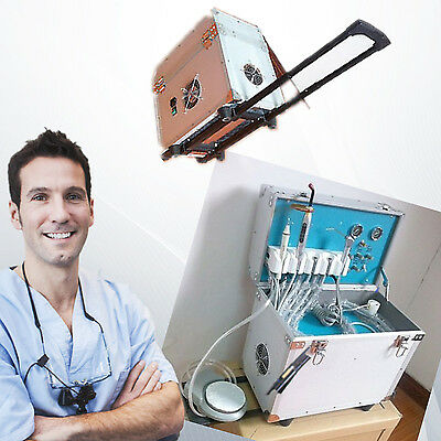 Dental Portable Delivery Unit/System Rolling Case curing light+ultrasonic scaler
