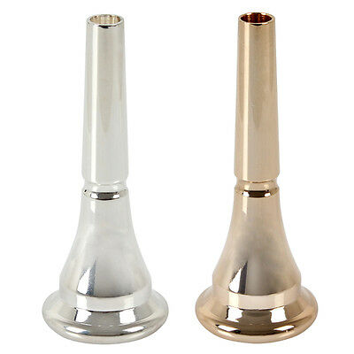 Sliver / Gold Copper Alloy Horn Blowing Nozzle Brass French Horn Mouthpieces