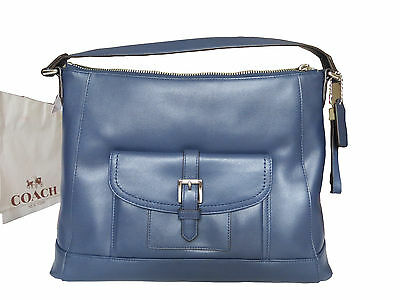 Nwt Coach Charlie Leather Hobo Tote Shoulder Bag Ink F29881 Msrp  398 bff242774f92b