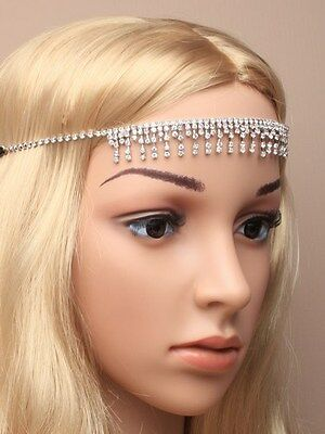 Boho Festival Crystal Hair Chains Head Piece Hair Jewellery Head Chains 5012