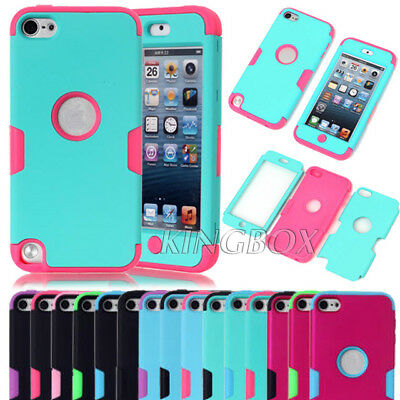 Hybrid Heavy Duty Silicone Shockproof Matte Hard Case Cover For  iPod Touch 5