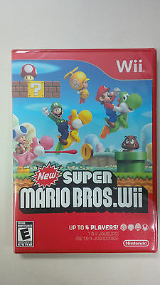 New Super Mario Bros Wii **Brand New** Factory Sealed**