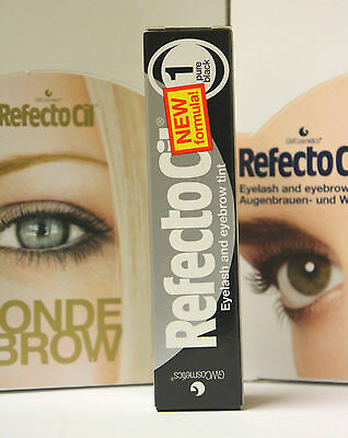 The Best Price!!! Original Refectocil Pure Black (No.1) Eyelash Eyebrow Tint