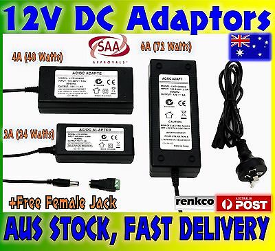 2A/4A/6A SAA 12V Power Supply Charger Adapter Transformer 3528 5050 LED Strips