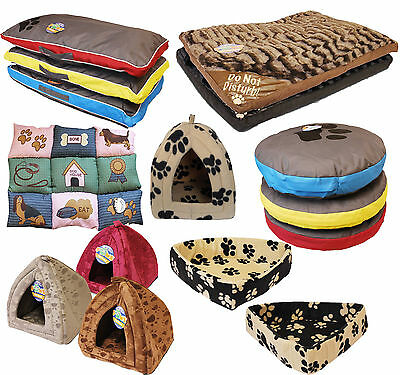 Large Luxury Washable Pet Dog Cat Bed Mattress House Soft Warm Fleece Fur Look