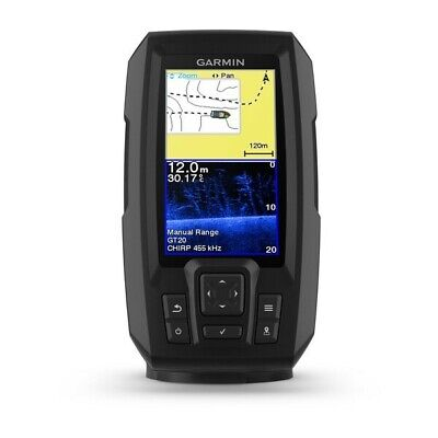 GARMIN STRIKER PLUS 4CV FISHFINDER GT20-TM Transducer & Built in GPS Fish Finder