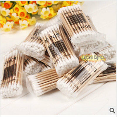 New Makeup Cosmetic Double Tip Cotton Buds Cleaning Wooden Swabs Q-tips 800 Pcs