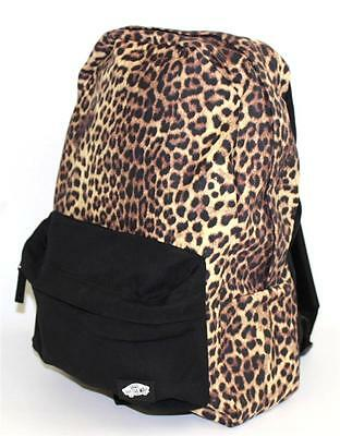 c94133888f39 Vans Off The Wall Checkered Backpack Bookbag Black Leopard Animal Print New  NWT