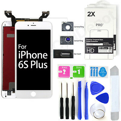 LOT 10X replacement front outer glass lcd screen lens for iPhone 5 s c WHITE