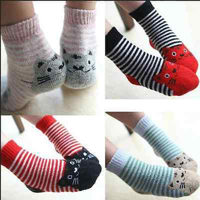 5 Pairs Baby Child Kids Cashmere Wool Warm Thick Soft boys girls Winter Socks