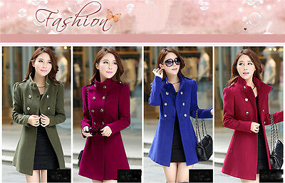 New winter spring womens Korean Style double-breasted red coat jacket slim coat