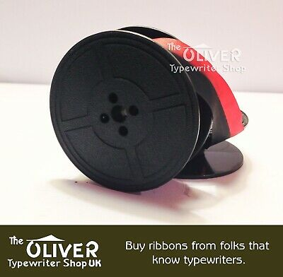 Brother Red & Black Typewriter Ribbon & Spool  (compatible) for Manual Machine