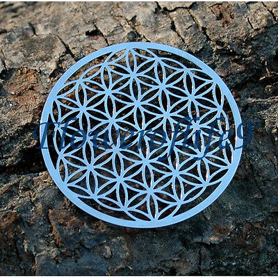 Flower of life - Carafe or water Bottle coaster (2,36 inch) - Stainless Steel