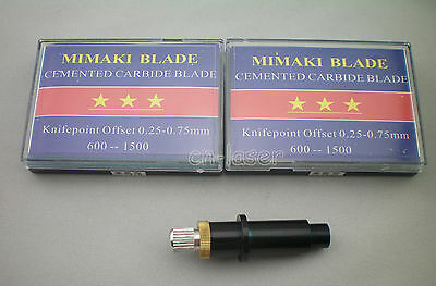 1pcs Blade Holder +10Pcs Mimaki Blades Vinyl Cutter Cutting Plotter 30°45°60°HQ