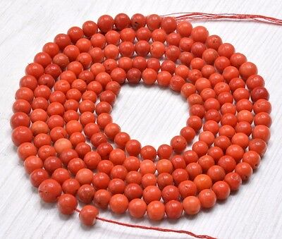 """20"""" Natural Color Italian Red Coral Branches Irregular Nugget Beads necklace"""