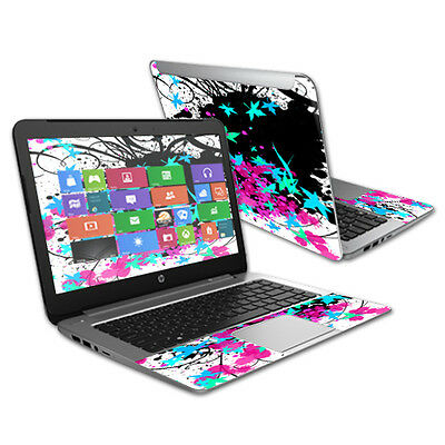 "Skin Decal Wrap for HP Stream 14"" (2015) Laptop cover sticker Leaf Splatter"