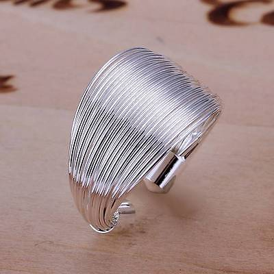wholesale women's 925 silver filled ring classic fashion jewelry gift size 7