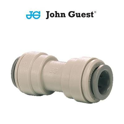 John Guest Push Fit Coupling Union Straight Connector Tube Pipe Hose 1/4 3/8 1/2