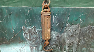 ANTIQUE RARE PELOUZE SCALE & MFG STEEL KING ICE BALANCE SCALE PAT. 1903 RANCH