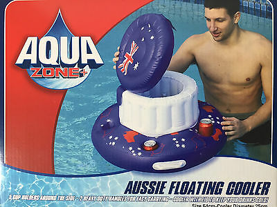 AQUAZONE AUSSIE Mega Chill Inflatable Floating Beverage Cooler Pool Spa