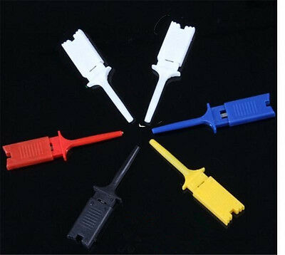 New Micro Insulated Grabber Functional Mini Test Hook SMD IC Probe Clip Jumper