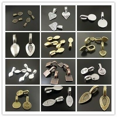 Antique Style Mixed Color Alloy Glue On Bail Charms Hot Sale Jewelry Makin