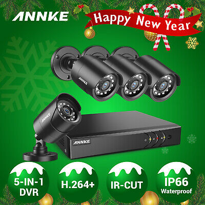 ANNKE 1080N 4CH HDMI DVR 1800TVL Security Camera CCTV Video Surveillance System
