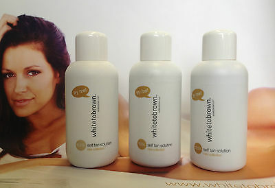New whitetobrown self spray tan solution try me sample size mini collection